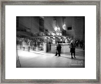 Morning In Grand Central Framed Print by Miriam Danar