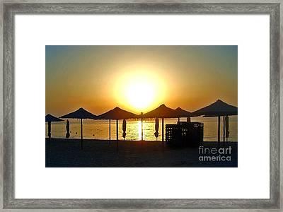 Morning In Greece Framed Print by Nina Ficur Feenan