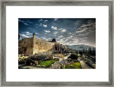 Morning In Jerusalem Hdr Framed Print