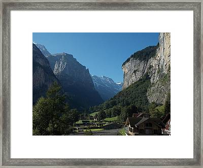 Morning In Lauterbrunnen Framed Print