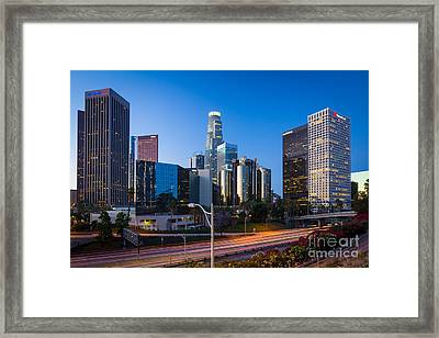 Morning In Los Angeles Framed Print by Inge Johnsson