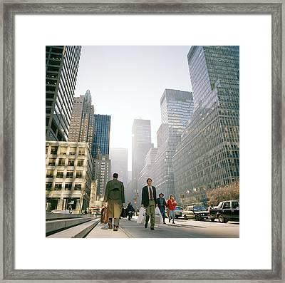 Morning In Manhattan Framed Print by Shaun Higson