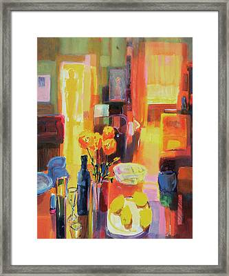 Morning In Paris Framed Print by Martin Decent