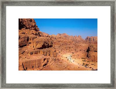 Morning In Petra Framed Print by Alexey Stiop