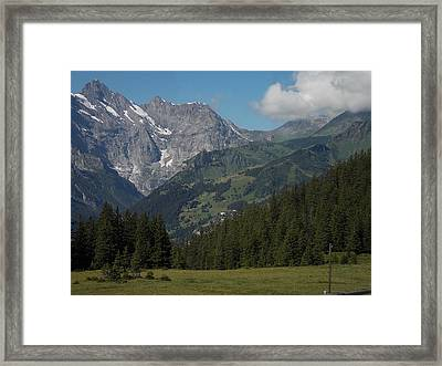 Morning In The Alps Framed Print