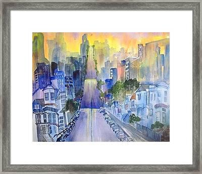 Morning In The City Framed Print