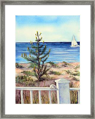 Morning In The Hamptons Framed Print