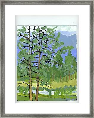 Morning In The Hills Framed Print by Rodger Ellingson