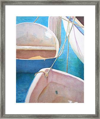 Morning In The Marina Framed Print by Diane Cutter