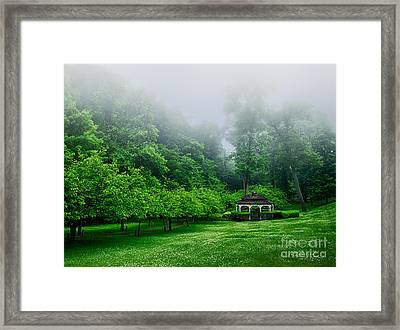 Morning In The Park Framed Print by Mark Miller