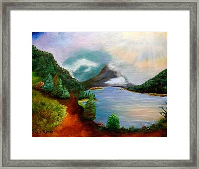 Morning In The Rockies Framed Print by Janis  Tafoya