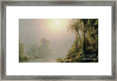 Morning In The Tropics Framed Print by Frederic Edwin Church
