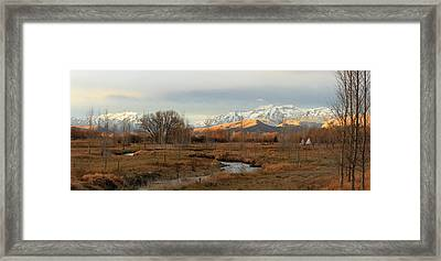 Morning In The Wasatch Back. Framed Print