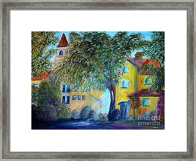Framed Print featuring the painting Morning In Tuscany by Eloise Schneider