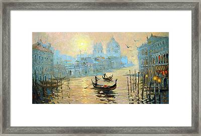 Morning In Venice Framed Print by Dmitry Spiros