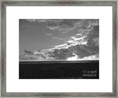 Morning Inspiration In Black And White Framed Print by Vic  Mastis