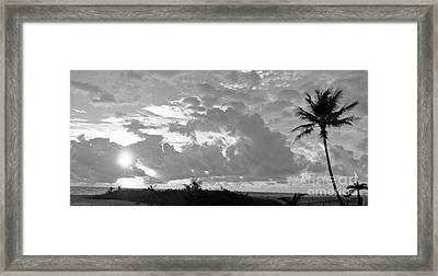 Morning Inspriation In Black And White Framed Print