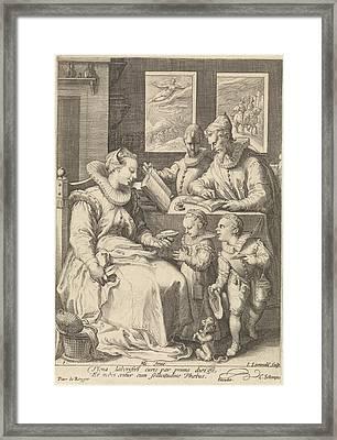 Morning, Jan Saenredam, Cornelius Schonaeus Framed Print by Jan Saenredam And Cornelius Schonaeus And Pieter De Reyger