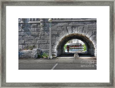 Morning Jog Framed Print