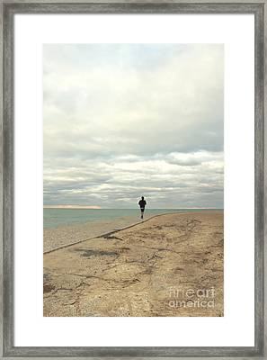 Morning Jog Framed Print by Margie Hurwich