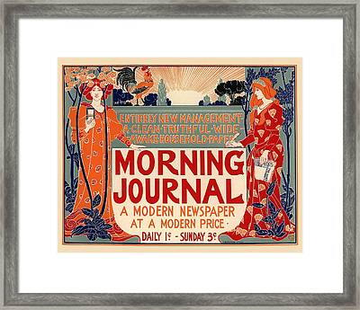 Morning Journal Framed Print by Gianfranco Weiss