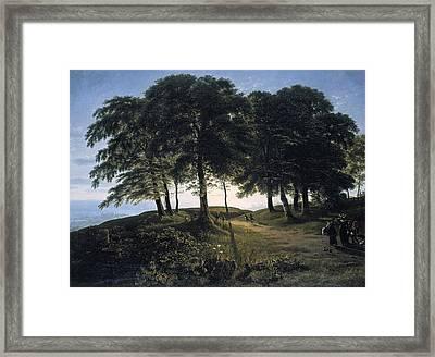 Morning Framed Print by Karl Friedrich Schinkel