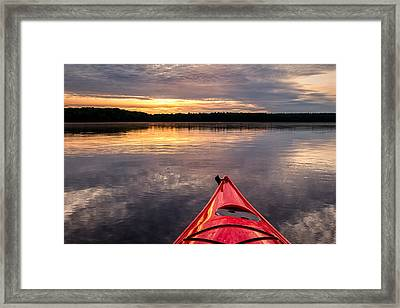 Morning Kayak Framed Print by Jeff Sinon