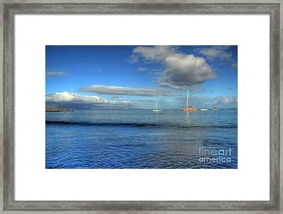 Morning Lahaina Harbor Framed Print by Kelly Wade
