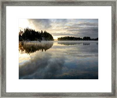 Morning Lake Reflection Framed Print