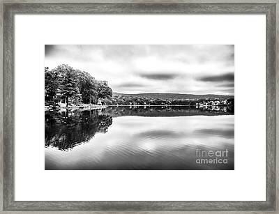 Morning Lake View Framed Print