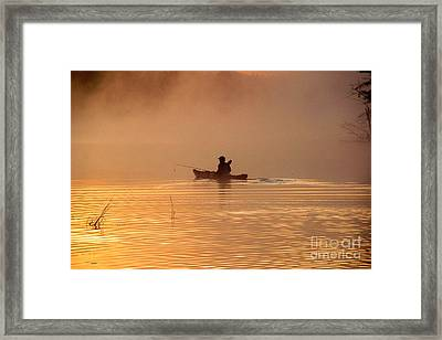 Morning Launch Framed Print by Butch Lombardi