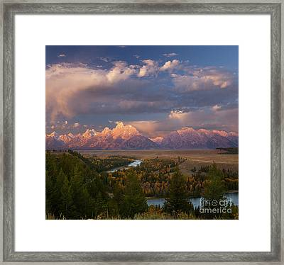 Morning Light At Snake River Overlook Framed Print