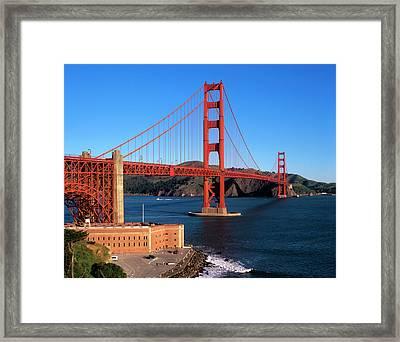 Morning Light Bathes The Golden Gate Framed Print by John Alves