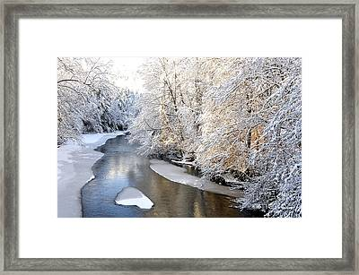 Morning Light Fresh Snowfall Gauley River Framed Print