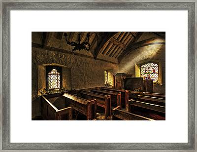 Morning Light In The Old Chapel Framed Print