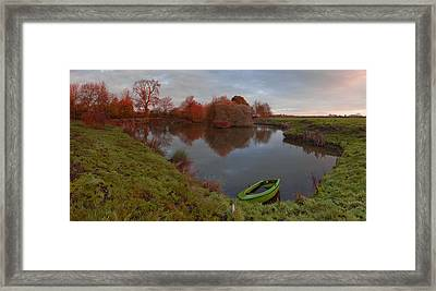 Morning Light Lenton Fishing Pond Framed Print