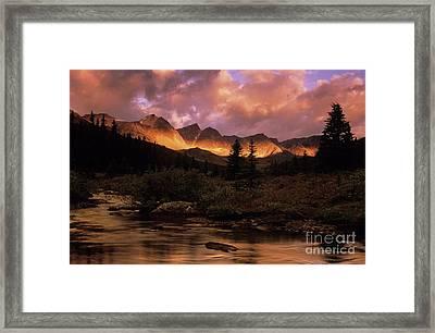 Morning Light Maligne Pass Framed Print