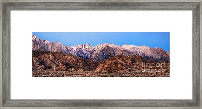 Morning Light Mount Whitney Framed Print