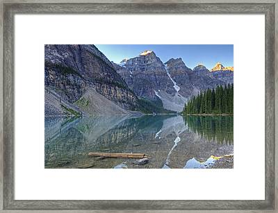 Morning Light On Moraine Lake Framed Print