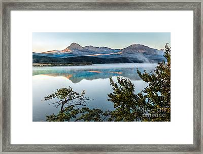 Morning Light On St. Mary Lake Framed Print by Robert Bales