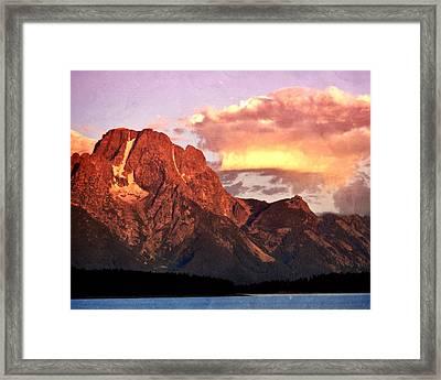 Morning Light On The Tetons Framed Print by Marty Koch
