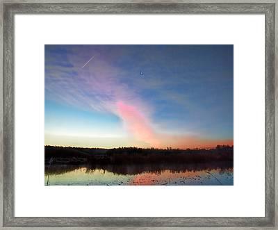 Morning Light Otside Enkoping October 31 2014 Framed Print