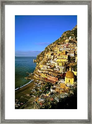 Morning Light Positano Italy Framed Print