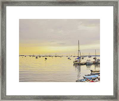 Morning Light Rockland Maine Framed Print by Marianne Campolongo