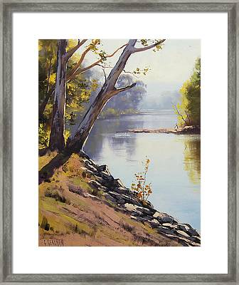 Morning Light Tumut River Framed Print by Graham Gercken