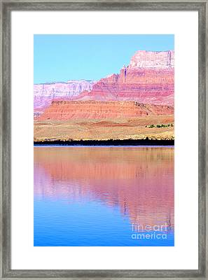 Morning Light - Vermillion Cliffs And Colorado River Framed Print by Douglas Taylor