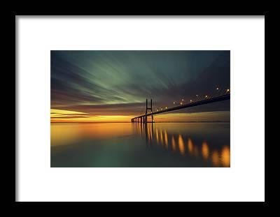 Vasco Da Gama Bridge Framed Prints
