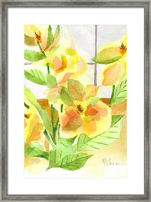 Morning Magnolias Framed Print by Kip DeVore