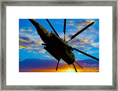 Morning Maneuvers  Framed Print
