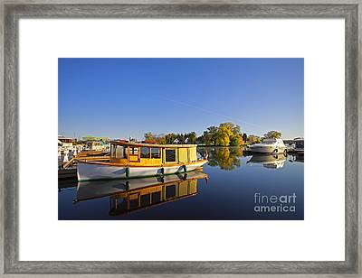 Morning Marina Framed Print by Charline Xia